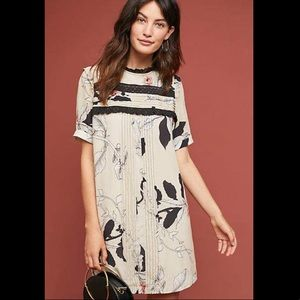 Anthropologie Vineet Bahl Ines Floral Tunic Dress